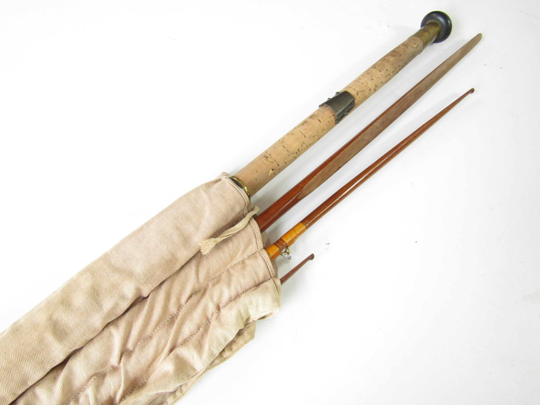 Lot 9 - A 15' Greenheart spliced salmon fly rod produced by Playfair & Co, Aberdeen