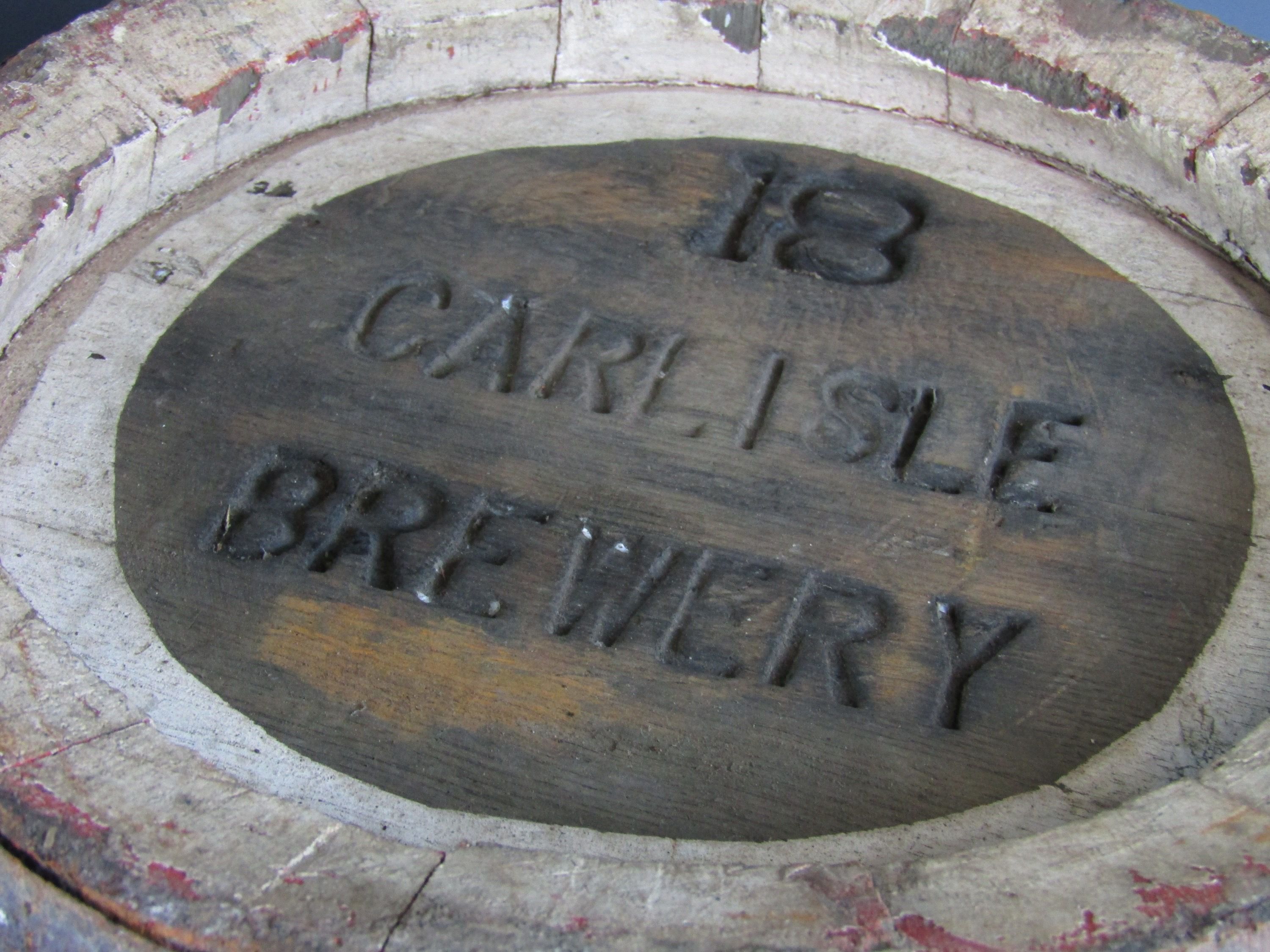 Lot 53 - Two vintage Carlisle Brewery coopered barrels