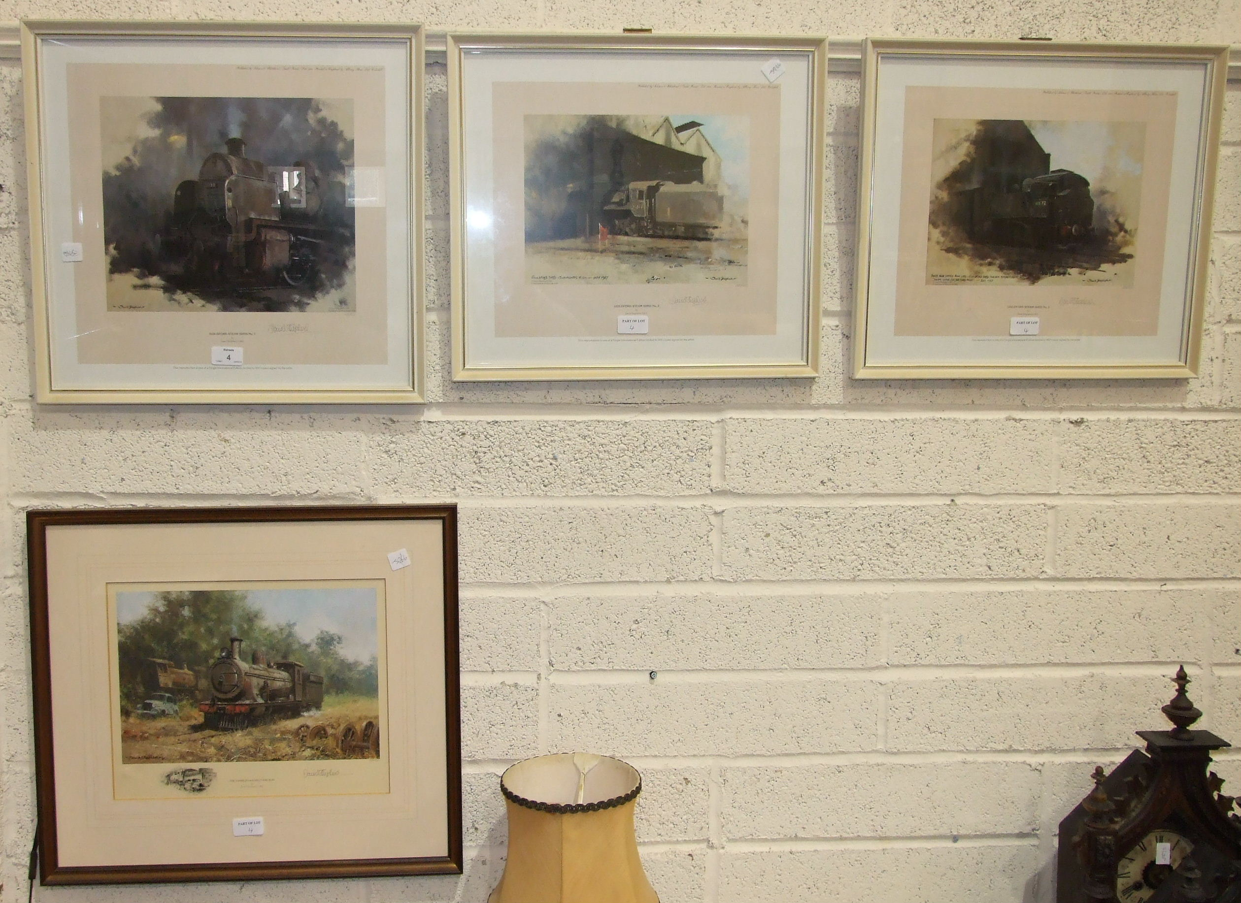 Lot 4 - After David Shepherd, a collection of four signed limited edition coloured prints, 'Guildford