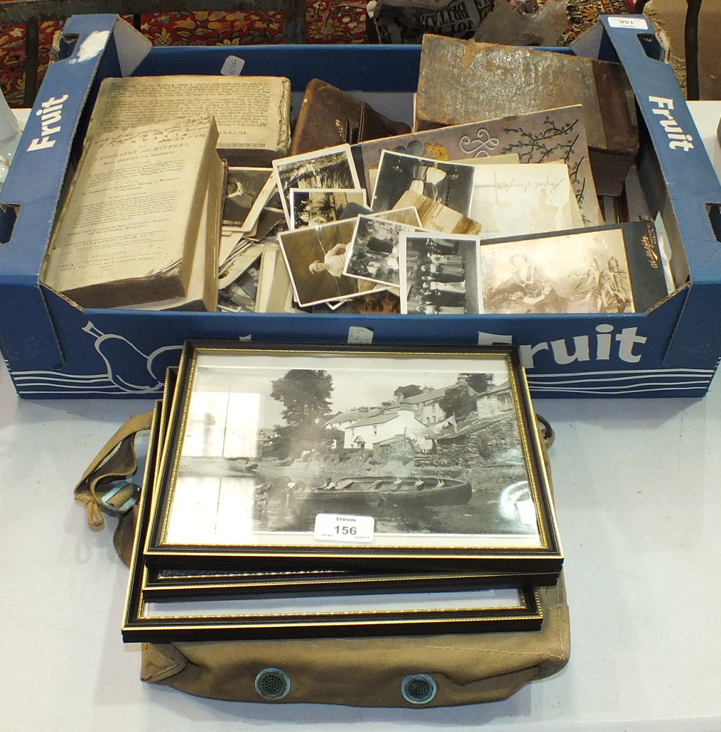 Lot 156 - A collection of photographs, postcards and miscellaneous items.