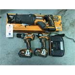 "{LOT} Ridgid #R8643B Octane Brushless 18V Cordless Reciprocating Saw w/Box, Ridgid 18V Rs6116 1/2"""