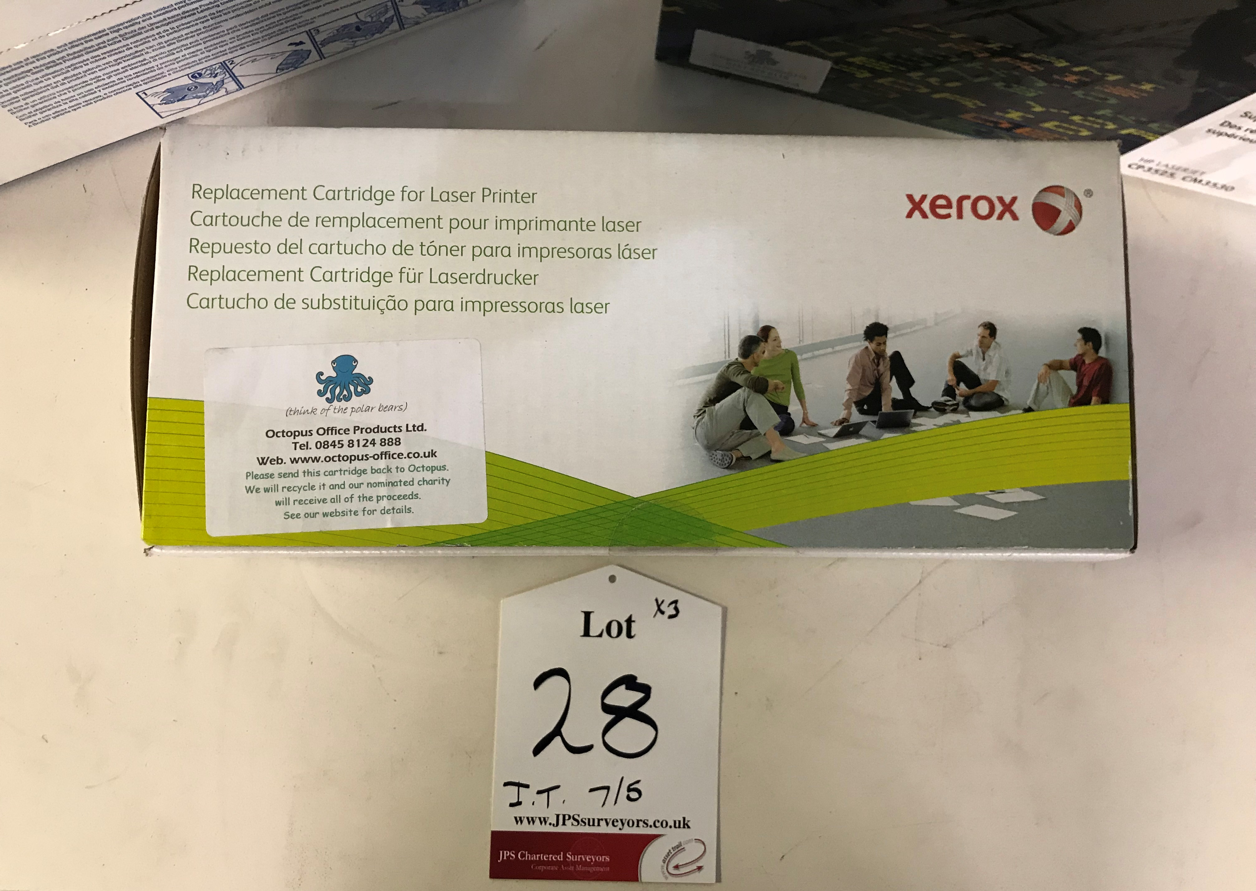 Lot 28 - 3 x Various Printer Cartridges - See Description