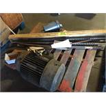 (2) electric motors and misc. parts (LOT). ** (Located in Russellville, Arkansas) ** Rigging Fee: $5