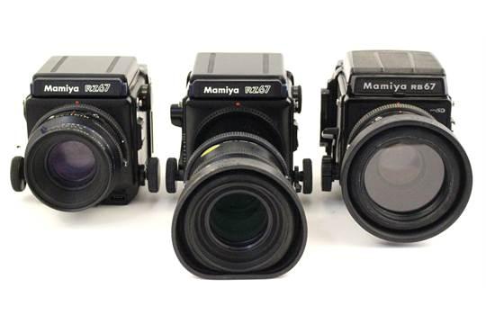 Mamiya: Two Mamiya RZ67 camera bodies together with a Mamiya