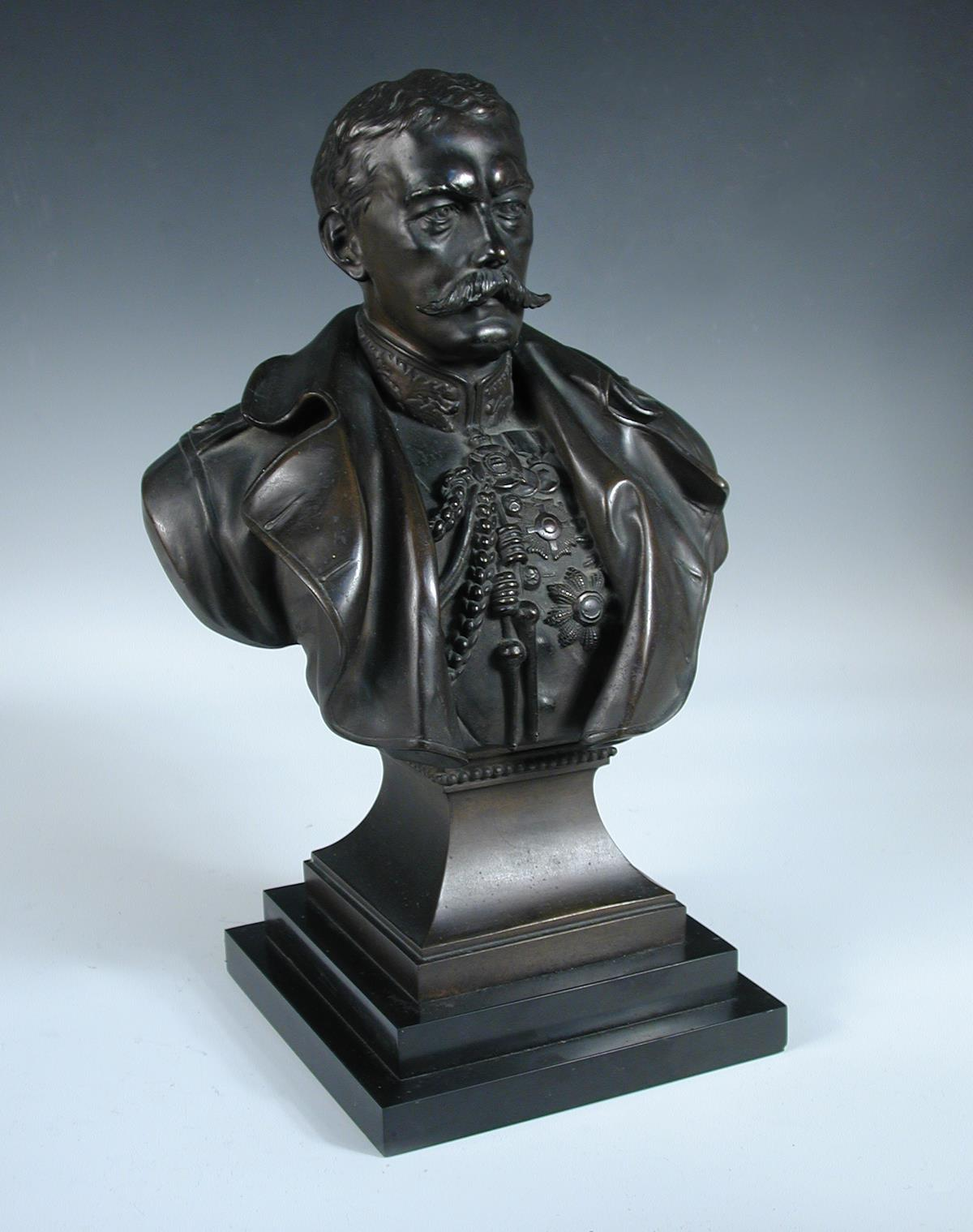 Lot 766 - Richard Claude Belt (1851-1920), a bronze bust of Lord Kitchener together with other memorabilia