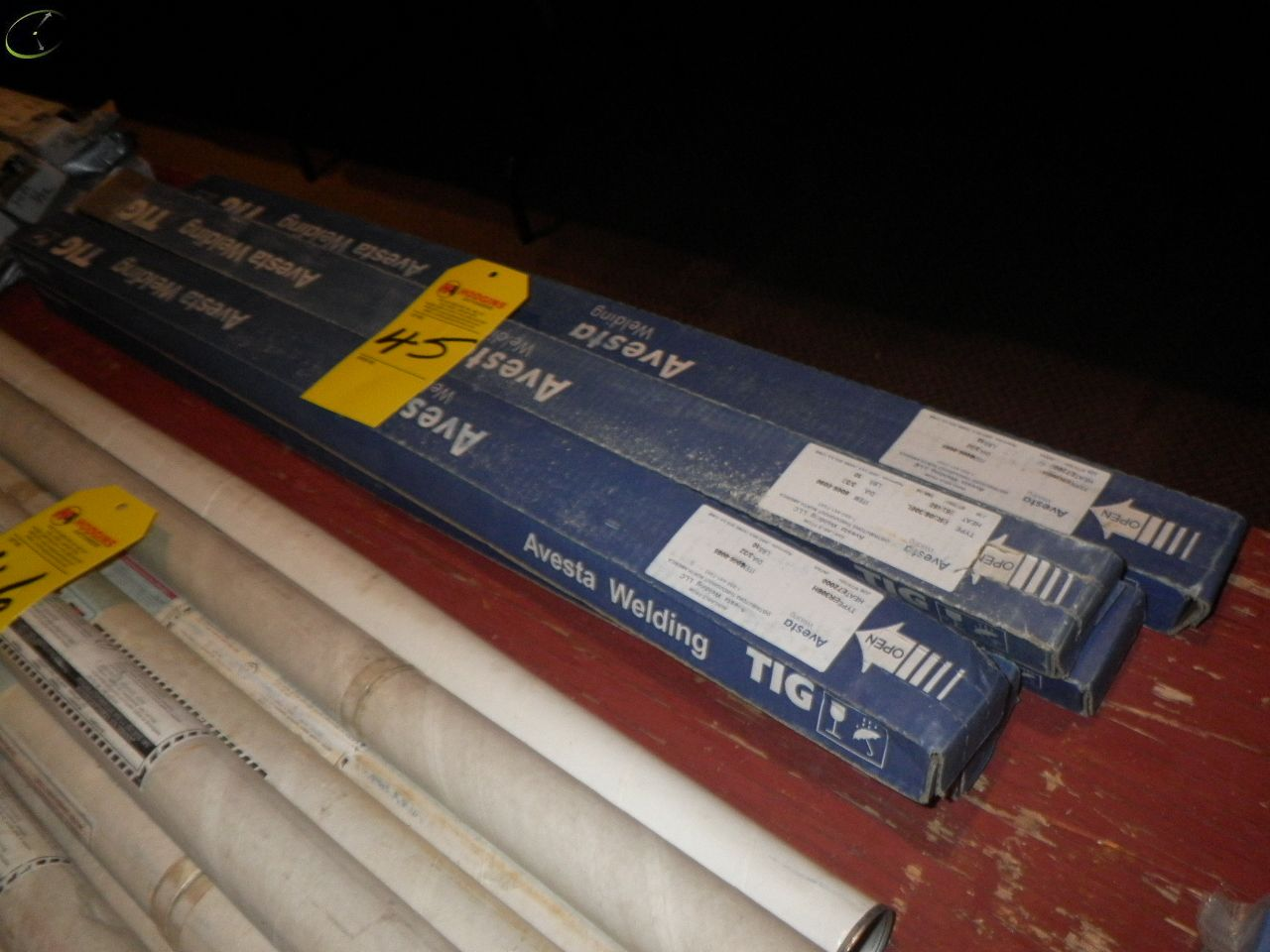 Lot 45 - FIVE Boxes Of AVESTA 3/32x37'' Brazing Rods.