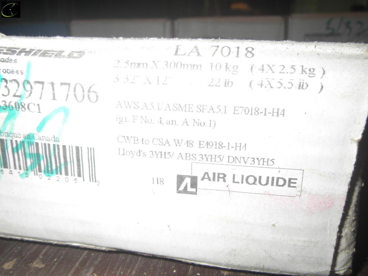 Lot 41 - THREE Cases Of BLUESHIELD 3/32x12'' 7018 Welding Rod.