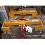 Caldwell mdl. 10S-2-20 4000 Lb Cap Forklift Hooks (2)