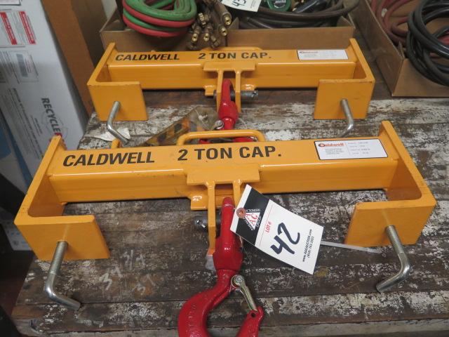 Lot 42 - Caldwell mdl. 10S-2-20 4000 Lb Cap Forklift Hooks (2)