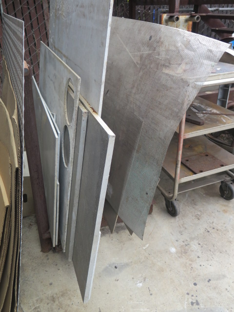 Lot 131 - Stainless and Aluminum Sheet Stock and Shop Carts