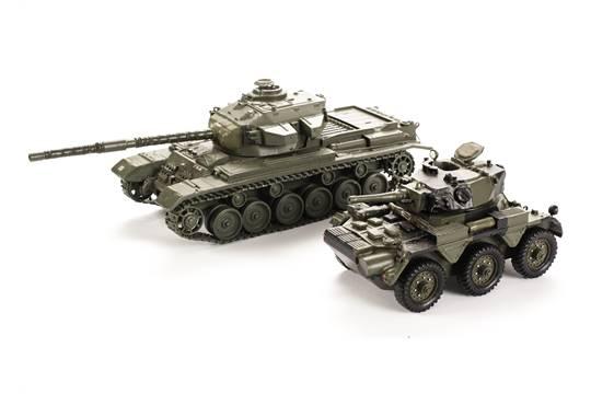 Centurion Tank and Saladin Armoured Car, probably Bengurion