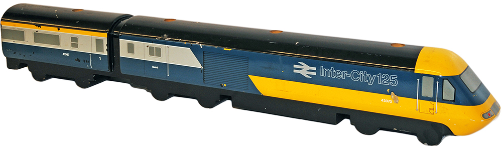 Lot 308 - Inter City 125 HST wooden Model of 43070 as used in Travel Agent Offices. Measures 43 inches long