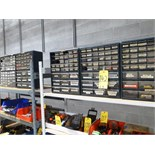(5) small parts bins w/ contents