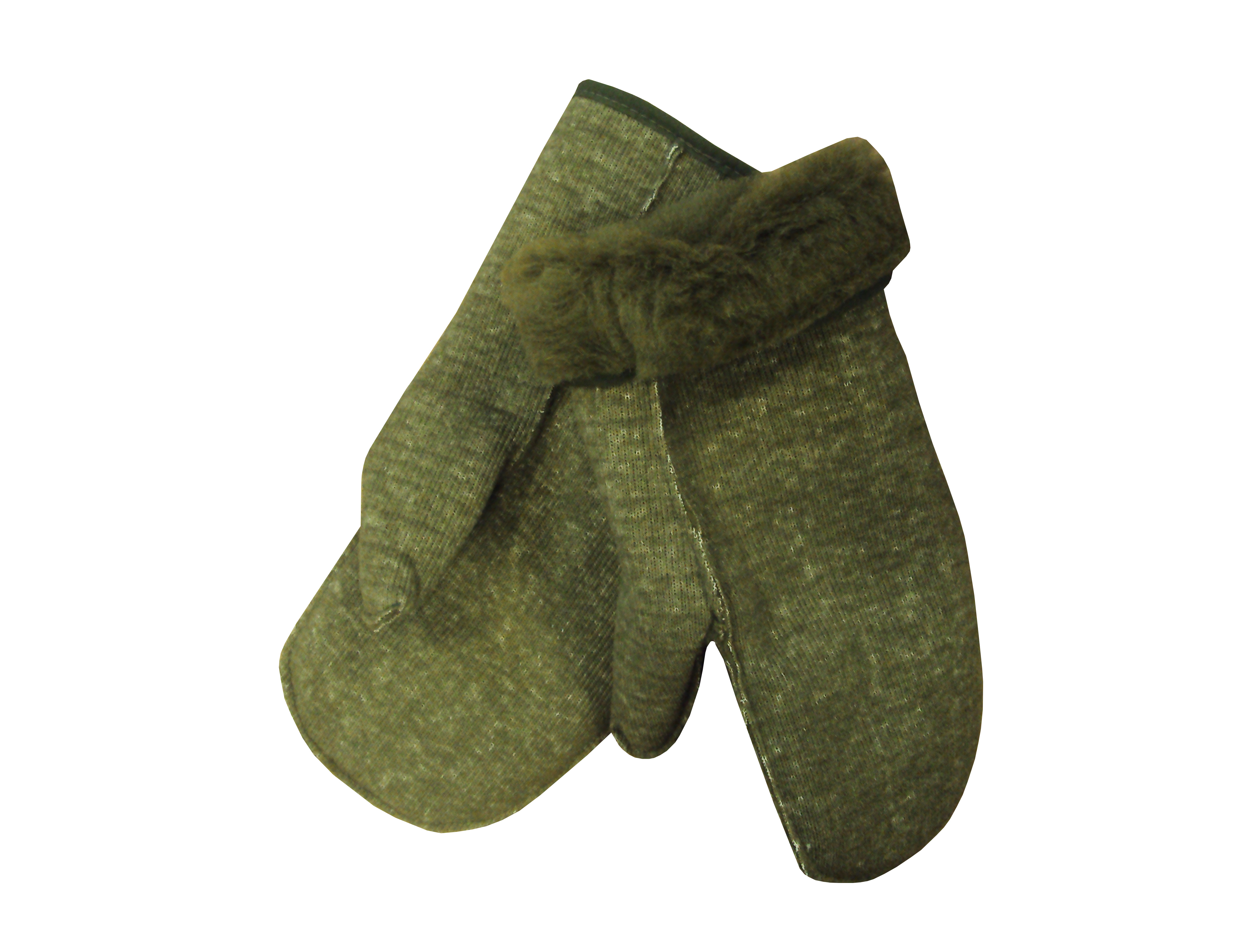 Lot 2 - Pack of 76 Mittens - Green - Wool Pile Liner - New