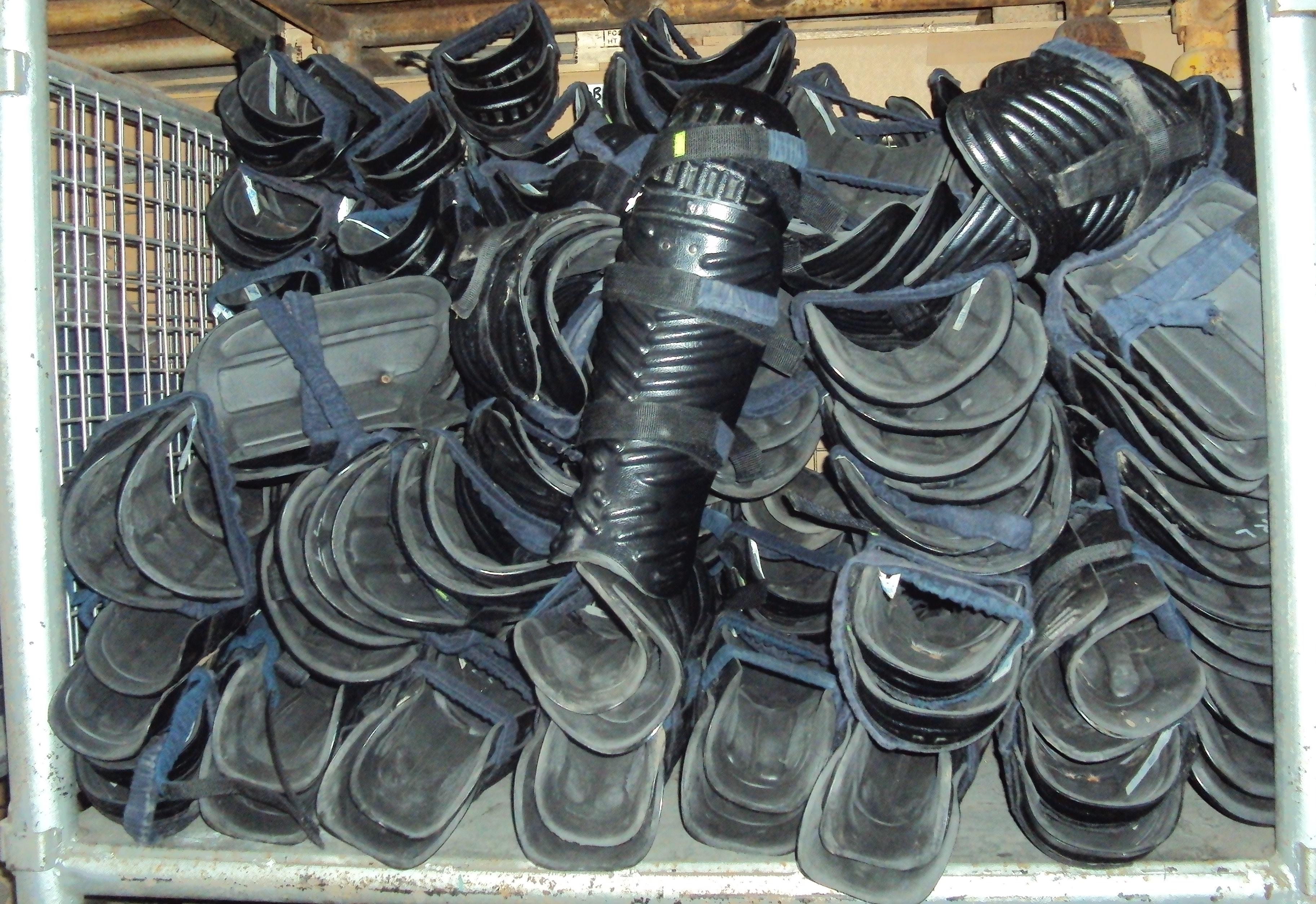 Lot 26 - Police Shin/Knee Pads - Riot Police Pads - Used