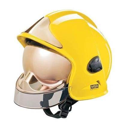 Lot 31 - MSA Yellow Gallet Fire Helmet - Brand New