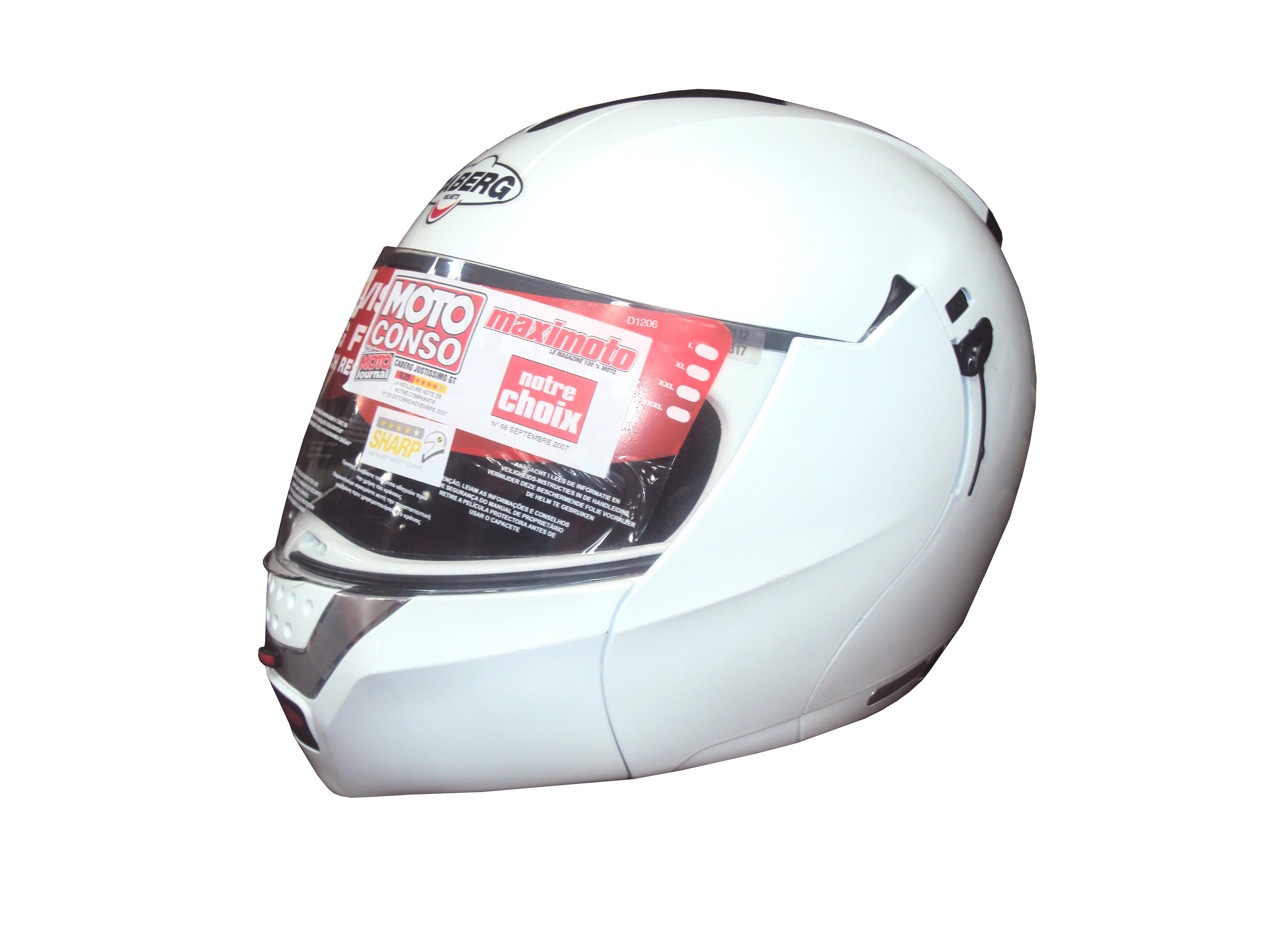 Lot 60 - 5 x Caberg Motor Cycle White Helmets - Grade 1 Condition