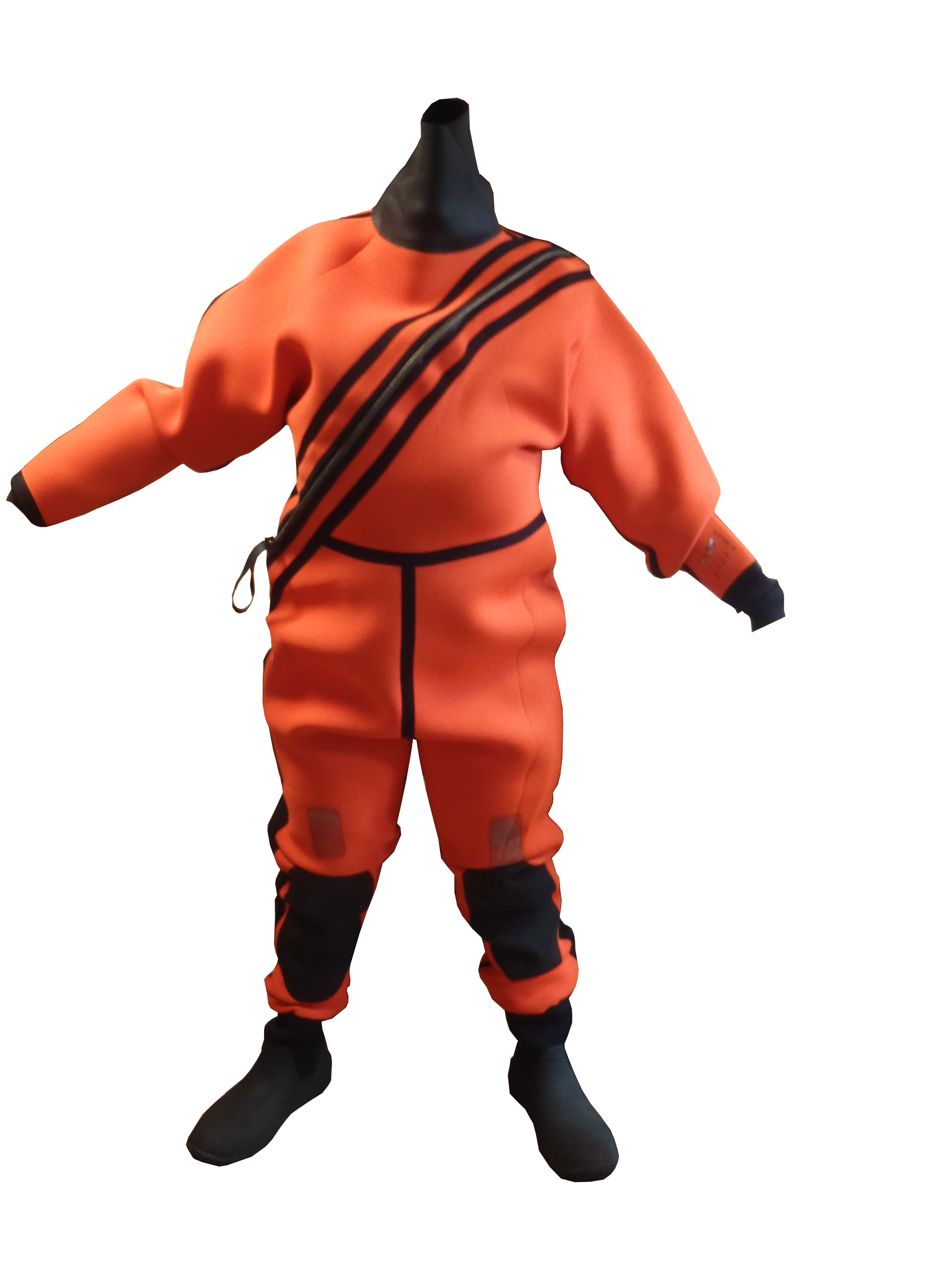 Lot 32 - Orange and Black Immersion Suit - Medium/Large - New