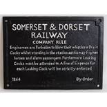 Lot 129 - SOMERSET & DORSET SIGN