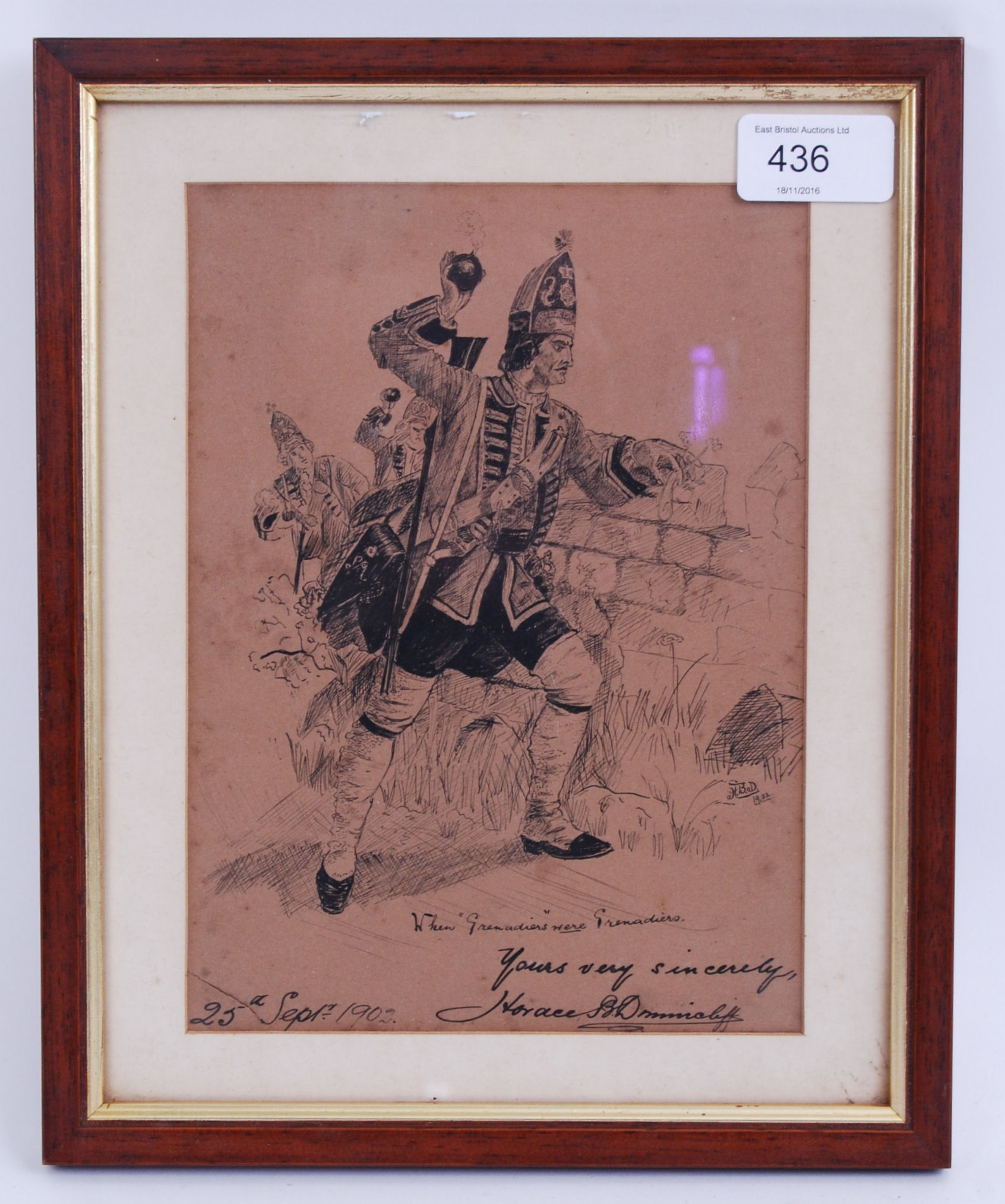 Lot 97 - EDWARDIAN MILITARY SKETCH