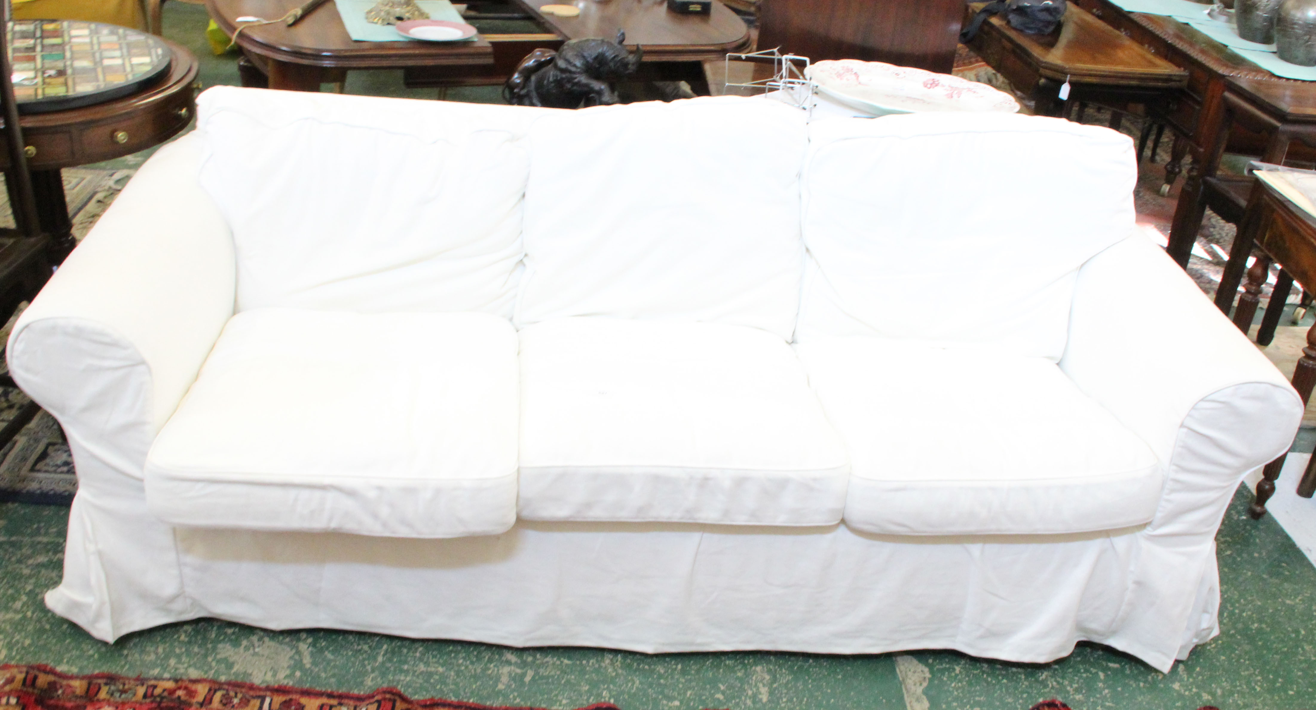Ikea Ektorp three seater sofa in Stenasa White removable covers