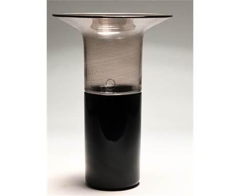 "Vase ""Filigrana di Tapio"", Entwurf Tapio Wirkkala (1915-1985), 1970, Venini/Murano, 1988. Muranoglas in aufwendiger kombini"