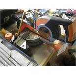 Evolution Rage 3-5 mitre saw with laser guidance, 1500w, s/n: R3S-C1611uk0010, 110v. Located: AC