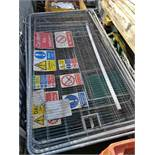 30 x Anti-climb Temporary Site Fencing Panels Galvanised plus 2 x gate panels with wheels (size: