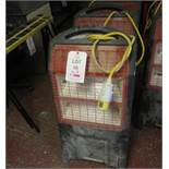 2 x Rhino TQ3 infra-red mobile heaters, 110v - heating element missing. Located: AC Interiors,