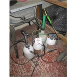 4 x assorted hand pump sprayers. Located: AC Interiors, Unit A1, Deseronto Trading Estate, St Mary's
