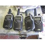4 x Binatone Action 100 walkie talkies with 2 x double base stations. Located: AC Interiors, Unit