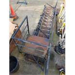 Steel Cabin Staircase, 14 Tread with landing, handrail and supports. Located: Modulek Limited,
