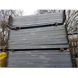 77 x Steel Hoarding Temporary Site Fencing Panels Galvanised (size: approx. 2.1m x 2.0m high) No