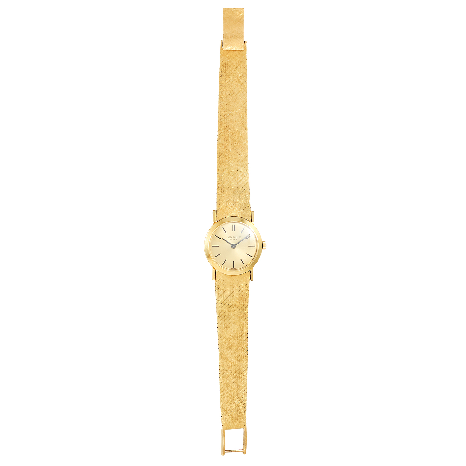 Los 352 - A LADIES WRISTWATCH, PATEK PHILIPPE in 18ct yellow gold, 18cm, 51.01g.