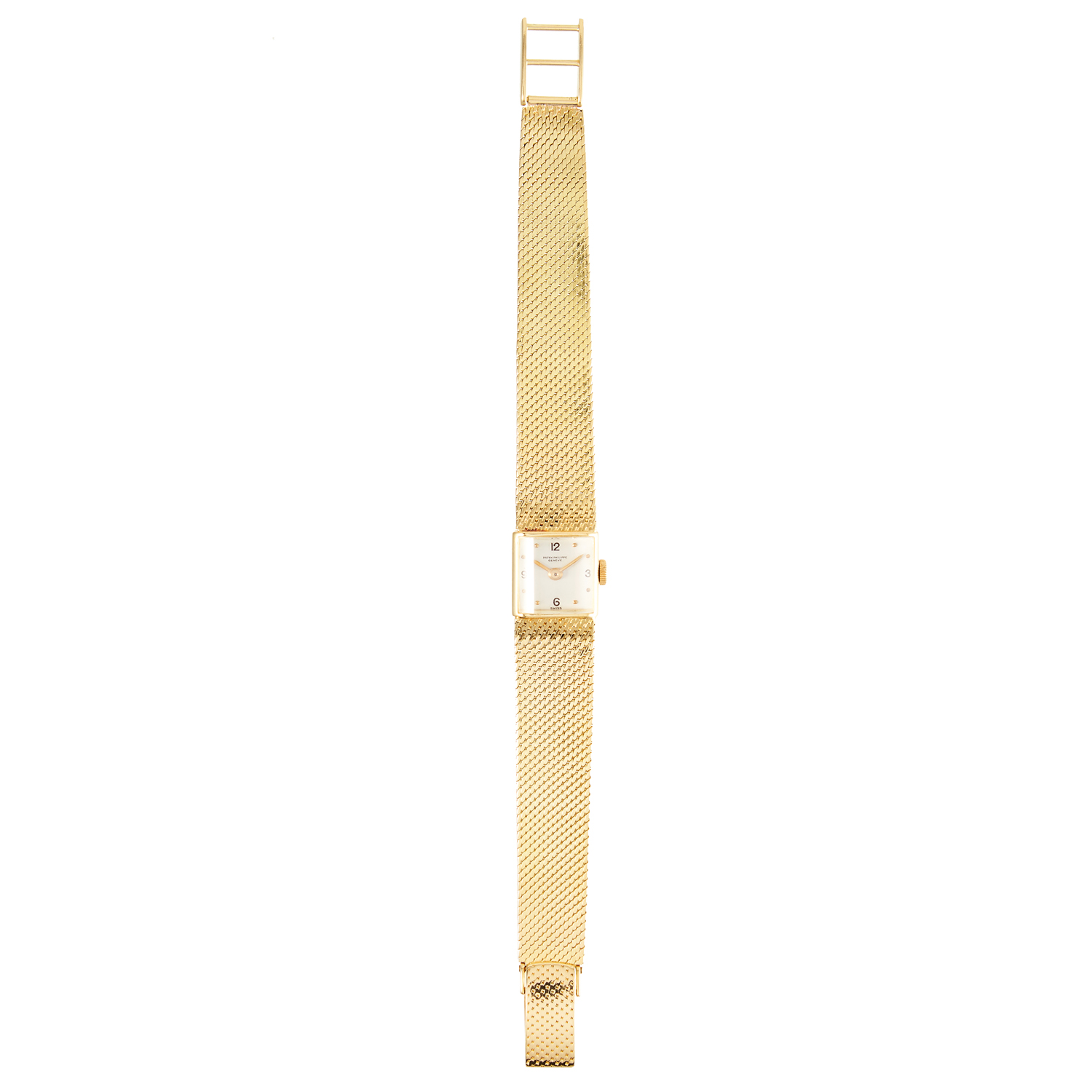 Los 359 - A LADIES WRISTWATCH, PATEK PHILIPPE in 18ct yellow gold, 17cm, 38.88g.