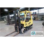"""7,000 LB. HYSTER MODEL S70FT LP GAS CUSHION TIRES TWO-STAGE MAST LIFT TRUCK; S/N H187V02305N, 122"""""""