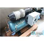 2 HP COMPAIR MODEL 10 PURS HORIZONTAL TANK AIR COMPRESSOR; S/N 010-002277, 3 PHASE, 230 VOLTS, HOURS