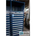 ELEVEN-DRAWER ROUSSEAU STATIONARY DRAWER CABINET WITH TOP BOX **LOCKED OPEN - NO COMBINATION**
