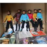 Star Trek - Mego - six vintage Star Trek action figures, c.1974, a vintage puzzle and viewmaster