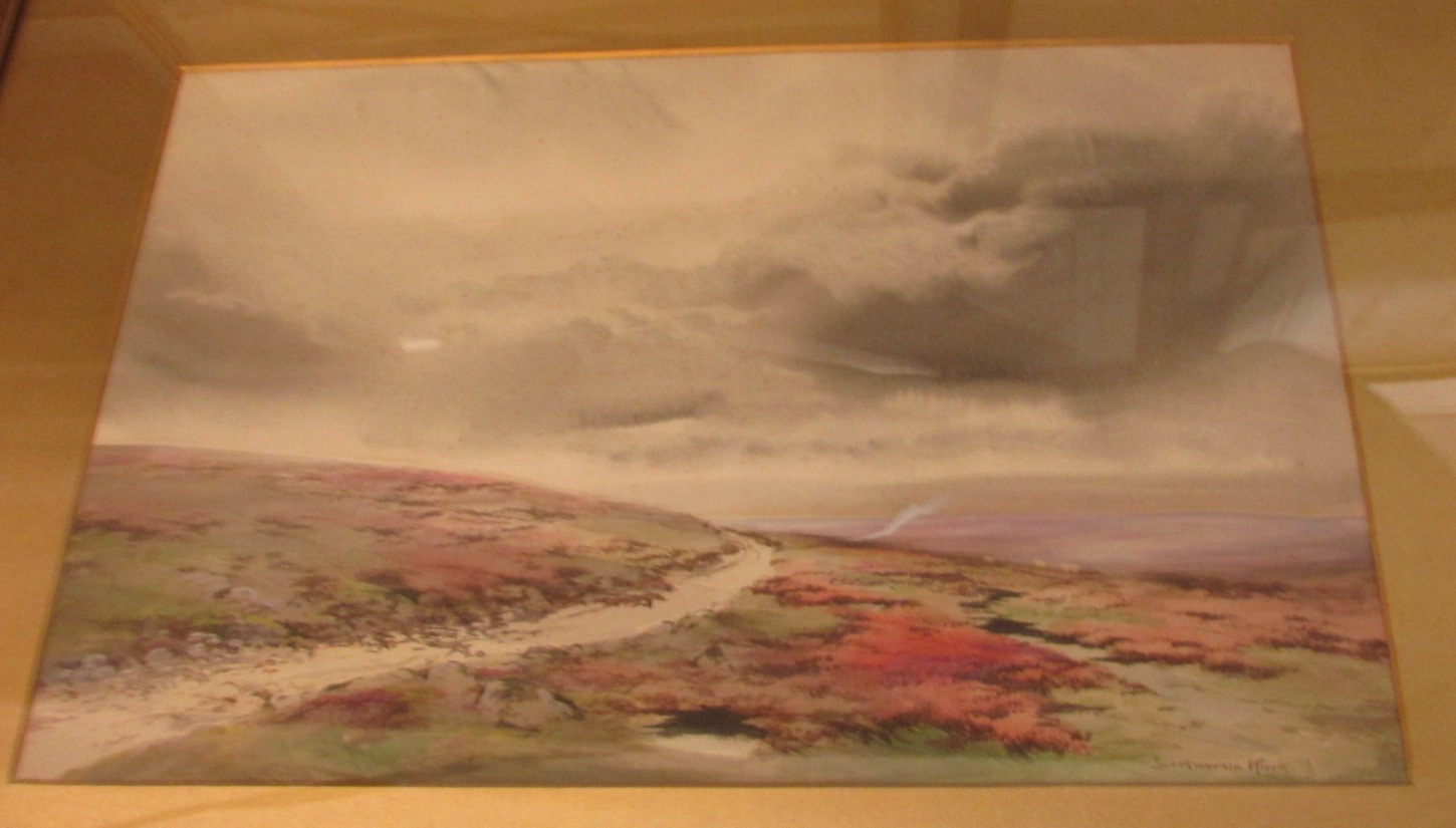 Lot 29 - 'Road to Princetown, Dartmouth', watercolour, BARAGWANATH [? the first letter is indistinct] KING