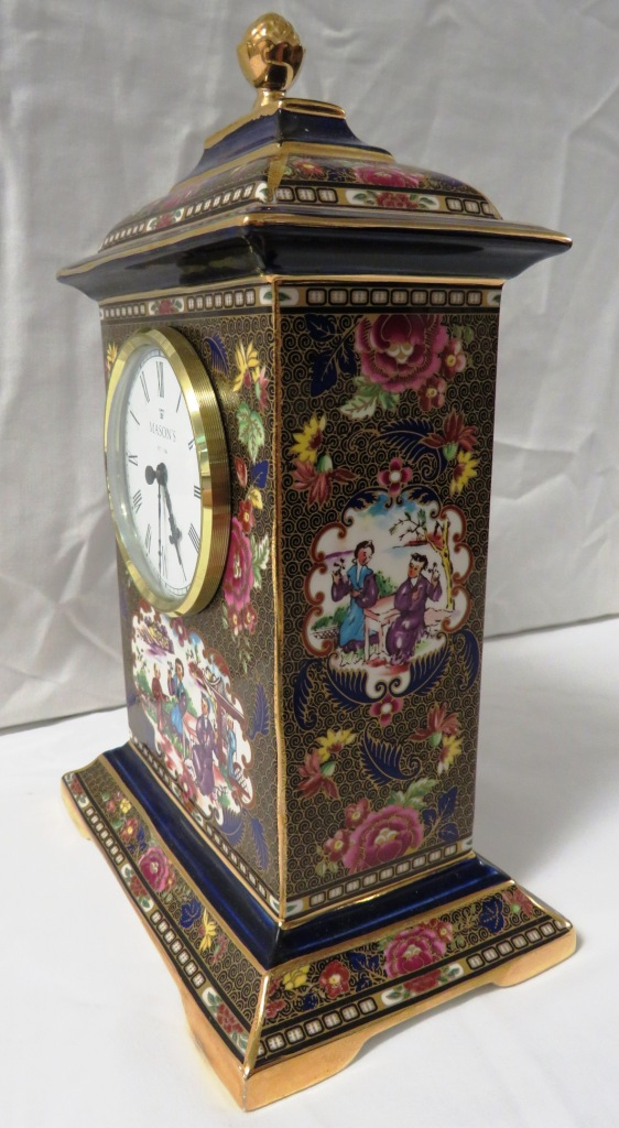 Lot 84 - Mason's Imperial Mandarin mantel clock, limited edition numbered 151/950, height 24.5cm