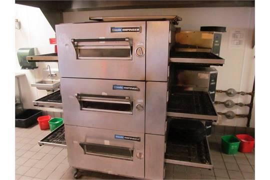 htm u oven double d impinger lincoln conveyor pizza electric stack