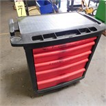 5-DRAWER RUBBERMAID TOOL BOX ON CASTERS