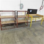LOT - (2) METAL RACK/WORK BENCH (ADVANCED RIGGERS & MILLWRIGHTS LOADING FEE: $25)