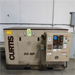 CURTIS MODEL RS1530B ROTARY SCREW TYPE AIR COMPRESSOR, 30HP, S/N 03B050001, 460V, 125PSI (ADVANCED