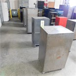 LOT - (6) STEEL TOOL CABINETS ON CASTERS