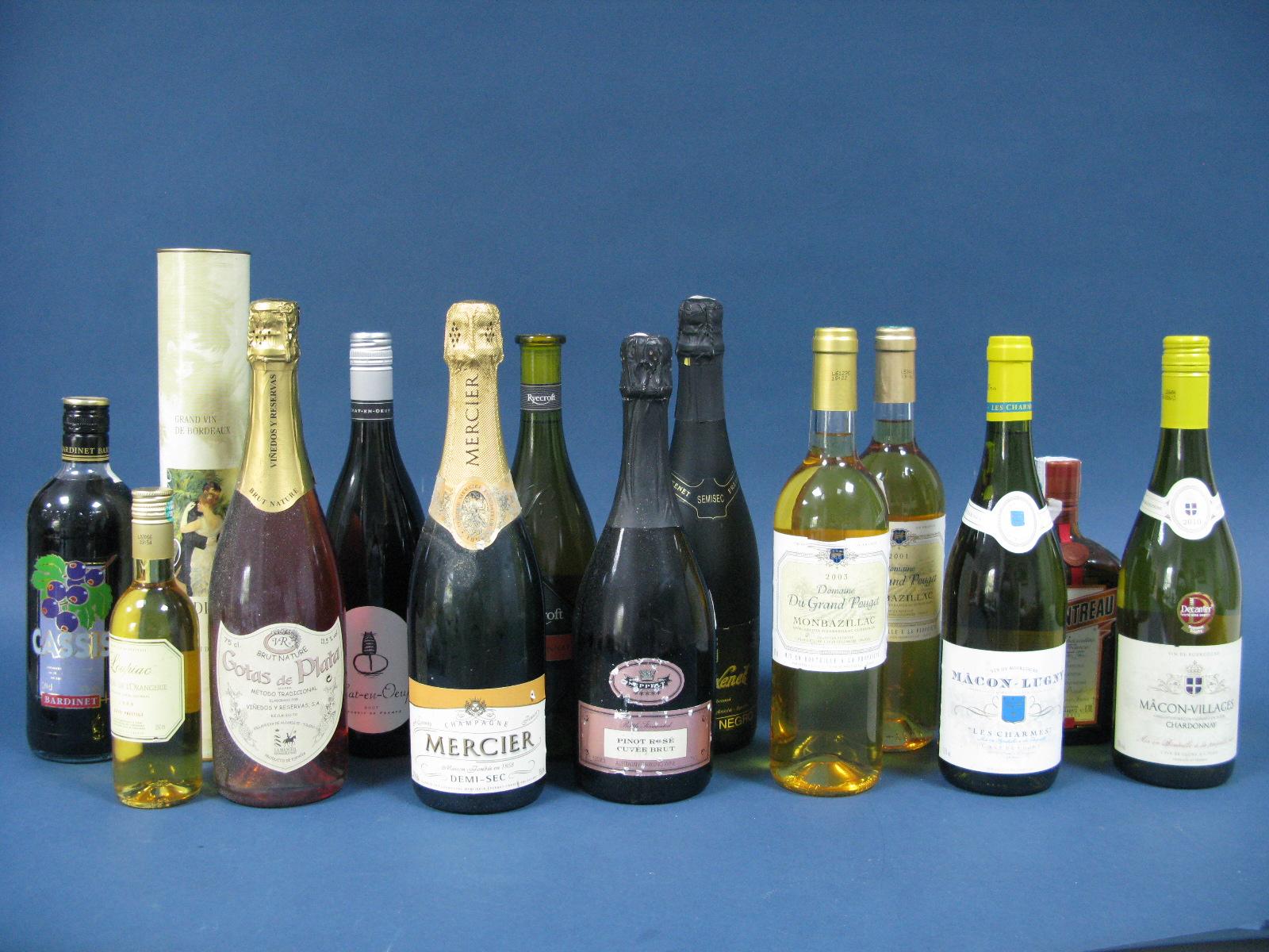 Lot 24 - Wine - A Mixed Collection, including Chateau De L'Orangerie Cuvee prestige 1998,