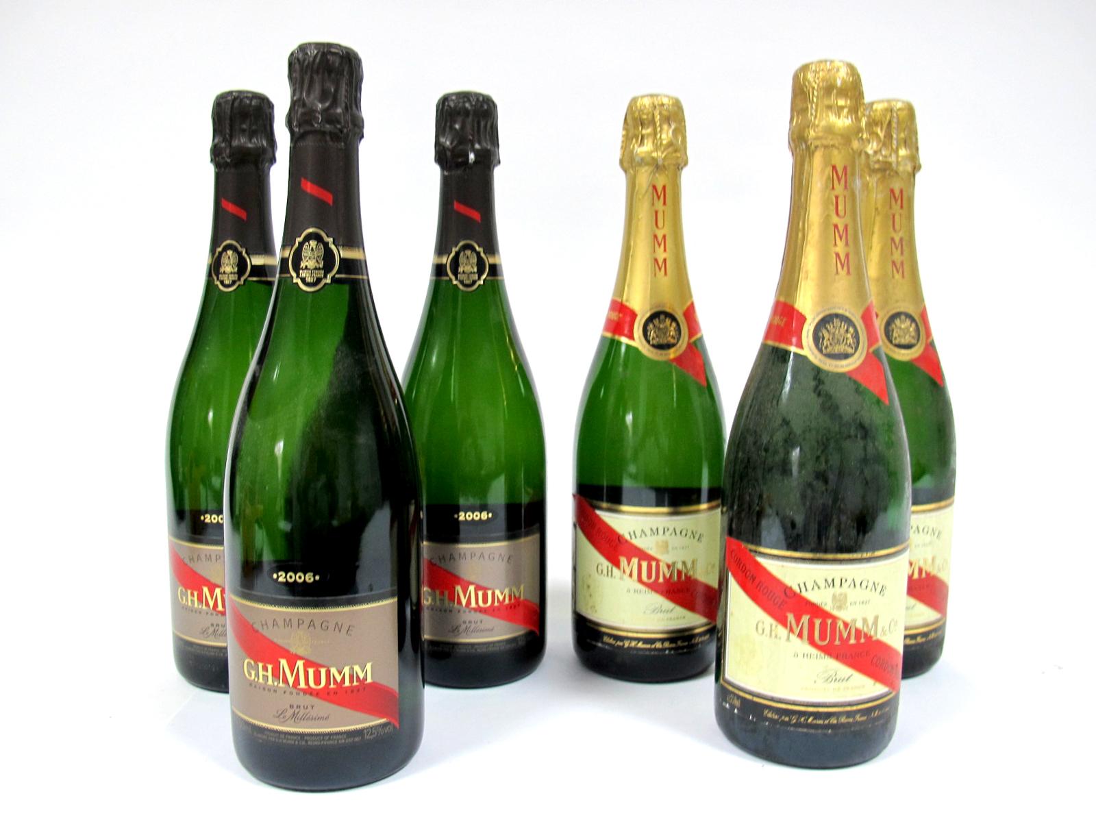 Lot 39 - Champagne - G.H. Mumm & Co. Brut Champagne 2006, 750ml, 12.5% Vol., three bottles; G.H. Mumm & Co.