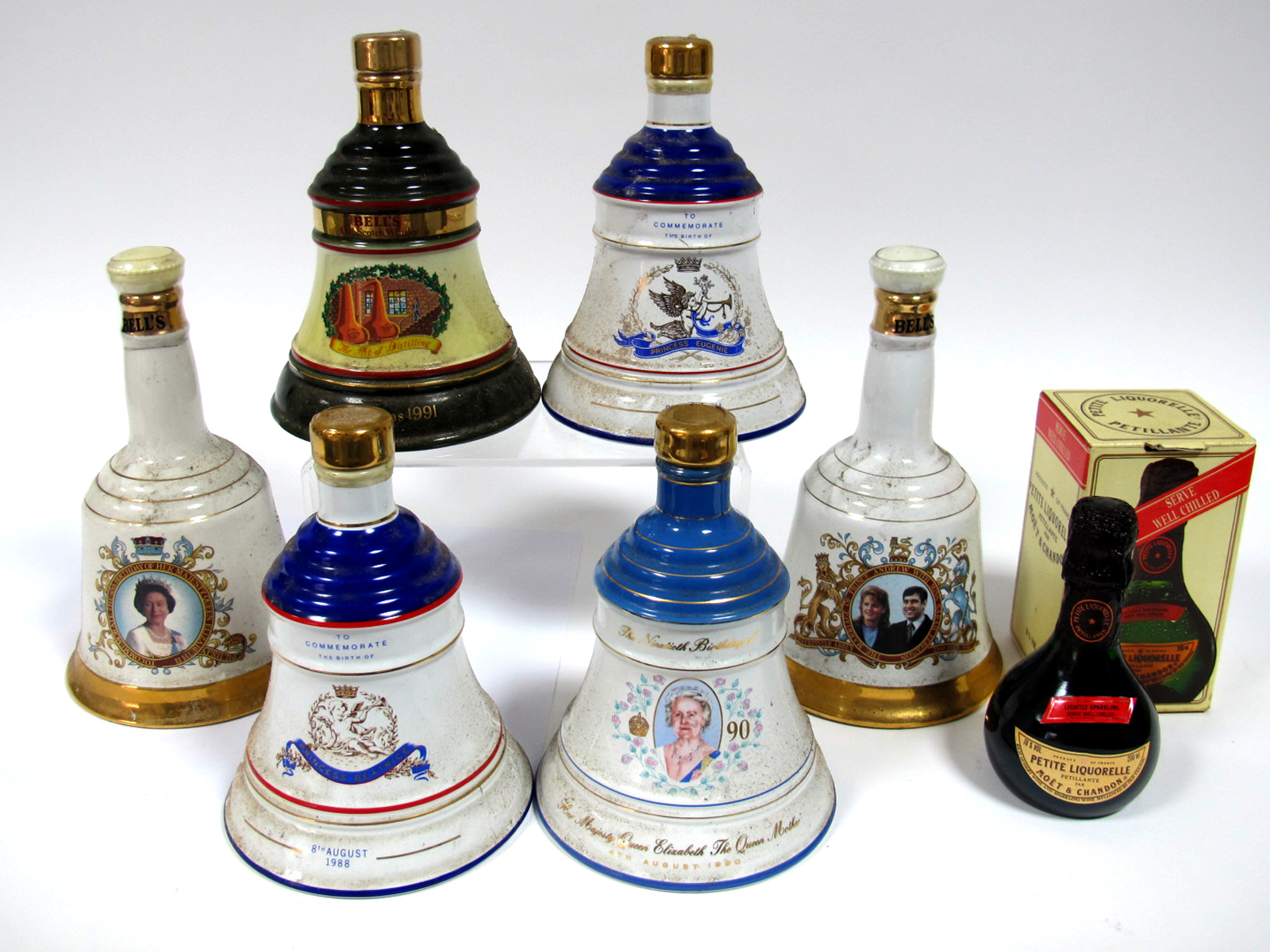 Lot 46 - Whisky - Collection of Bell's Scotch Whisky Commemorative Bells, including; Queen Elizabeth II