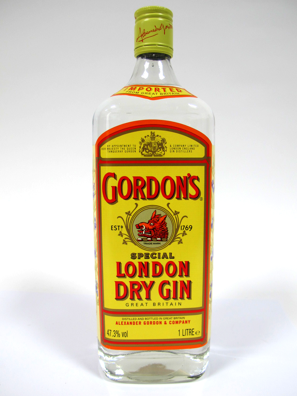 Lot 51 - Gin - Gordon's Special London Dry Gin, 1 litre, 47.3% Vol.
